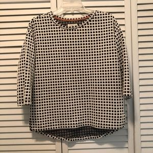 Lou & Grey gingham checkered top